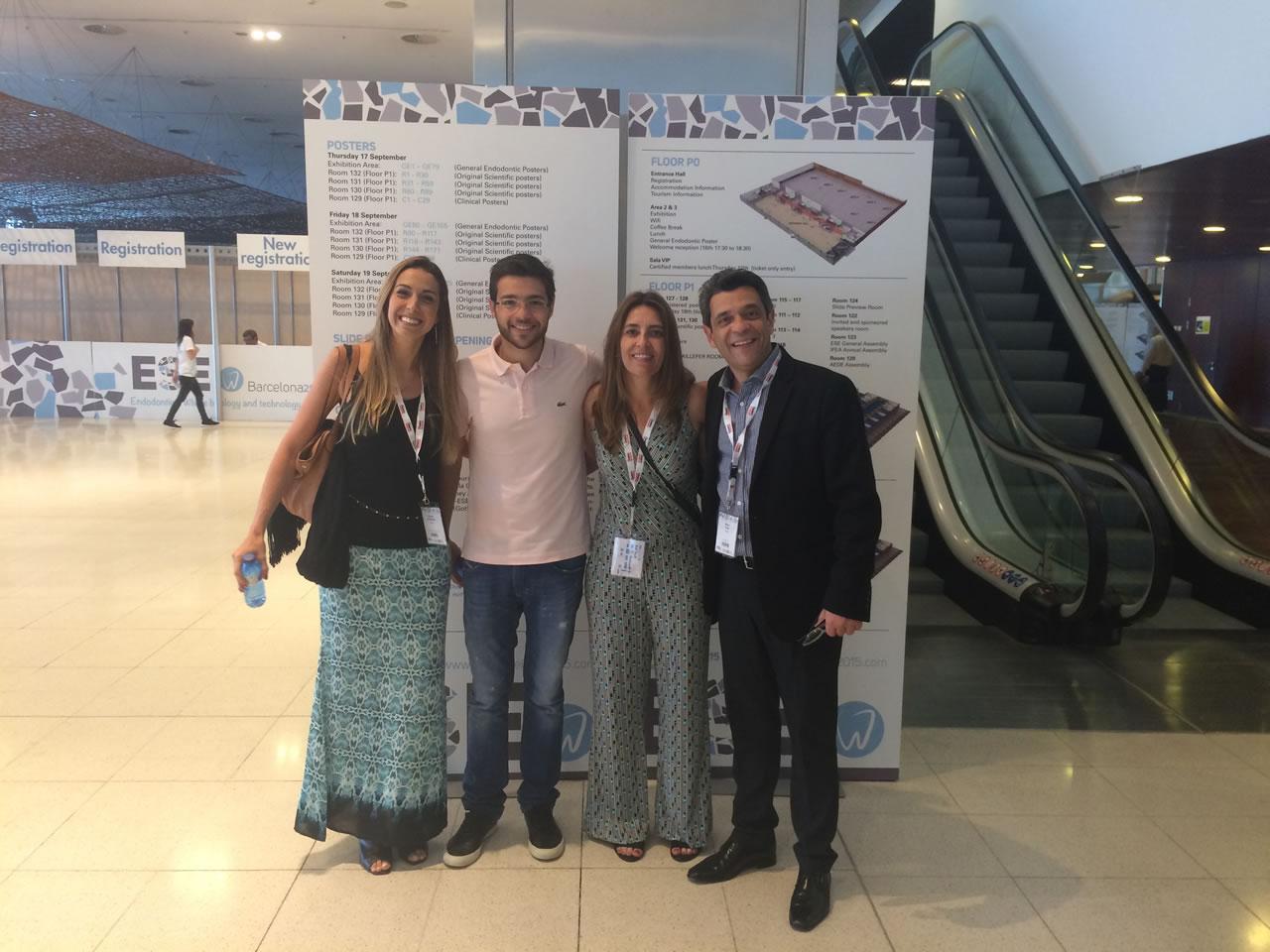 Professores Priscila Ferreira, Arthur Zuolo, Cristina Carvalho e Mario Zuolo durante realização do congresso.